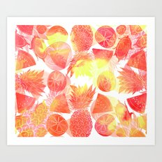 Tropical Fruit Print Art Print