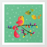 Merry Christmas, My Babi… Art Print