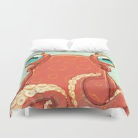 Goldie the Octopus Duvet Cover