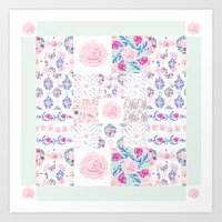 A Shabby Chic Patchwork Art Print