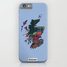 Scotland Counties Fabric Map Art iPhone 6 Slim Case
