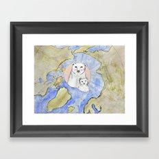 Polar Bear Portrait Framed Art Print