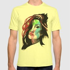 Heather Mens Fitted Tee Lemon SMALL
