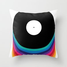 Happy Music Throw Pillow