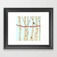 Festive Forest Framed Art Print