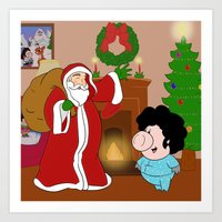 Santa Claus Came To Town… Art Print