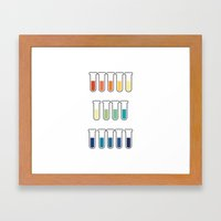pH Indicators. Framed Art Print