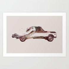 Drive me back home 3 Art Print