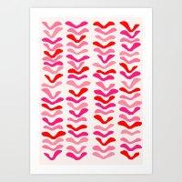 Rhythm Pink Art Print