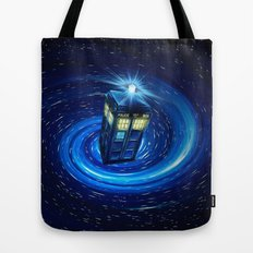 Tardis Blue Vortex Tote Bag