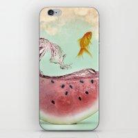 watermelon goldfish 02 iPhone & iPod Skin