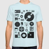 Data Mens Fitted Tee Light Blue SMALL