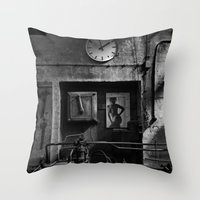 Old Factory 1 Throw Pillow