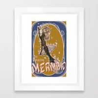 The Amazing MERMAID Framed Art Print
