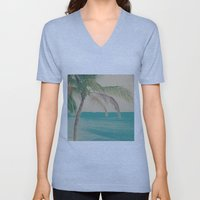 Coco Palm in the Beach  Unisex V-Neck