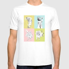 4 Little Animals White Mens Fitted Tee SMALL