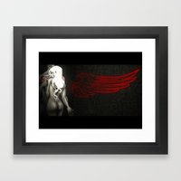 Red Angel Framed Art Print