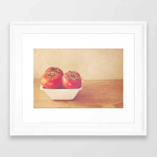 Persimmons Framed Art Print