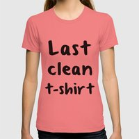 Last Clean T-shirt Womens Fitted Tee Pomegranate SMALL
