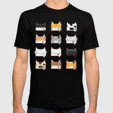 Convo Cats! Mens Fitted Tee SMALL Black