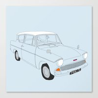 Weasley's Flying Ford An… Canvas Print