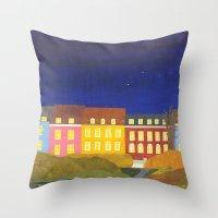 Kronissgade at Night Throw Pillow