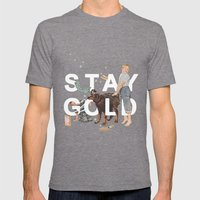Stay Gold Mens Fitted Tee Tri-Grey SMALL