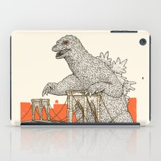 Godzilla vs. the Brooklyn Bridge iPad Case