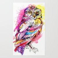 Neon Northern Pygmy Owl Rug