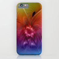 iPhone Cases featuring Colorful Abstract Fantasy Fractal by gabiw Art