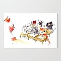Kitten School Canvas Print