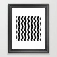 Black And White Vertical… Framed Art Print