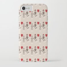 Sock Monkey Love iPhone 7 Slim Case