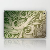 Tangled Curves, Olive Laptop & iPad Skin