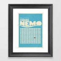 Finding Nemo Movie Poste… Framed Art Print