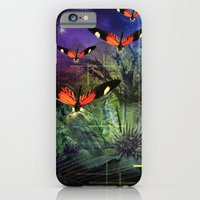 iPhone & iPod Case featuring          The Attack Of The Butterflies  by Andrew Sliwinski