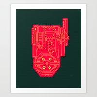 Circuit Drawing Of A Pro… Art Print