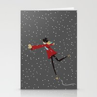 Ice Skate Girl Stationery Cards