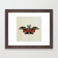 Bat-Fleurs Framed Art Print