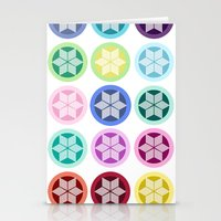 Colorful Snowflake Print Stationery Cards