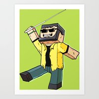 Block Sighted - Minecraf… Art Print