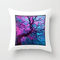 Purple Tree XII Throw Pillow