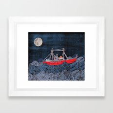 Nantucket Paper-Cut Diorama  Framed Art Print