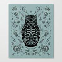 Owl Nesting Doll (Matryoshka) Canvas Print