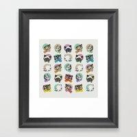 Cats & Bowties Framed Art Print