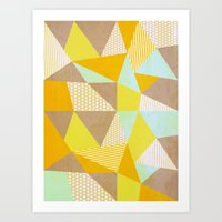 Geometric Warm Art Print