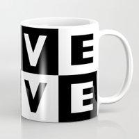 Love Black Mug