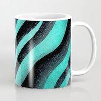 Cyan Zebra  Mug