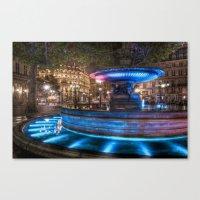 Fountain Du Louvre Canvas Print