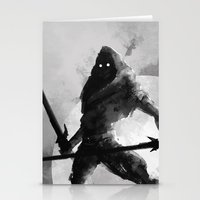 Dual-wielding Swordsman Stationery Cards